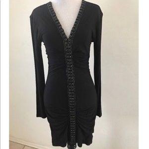 SKY Moriah Beaded Ruched Dress